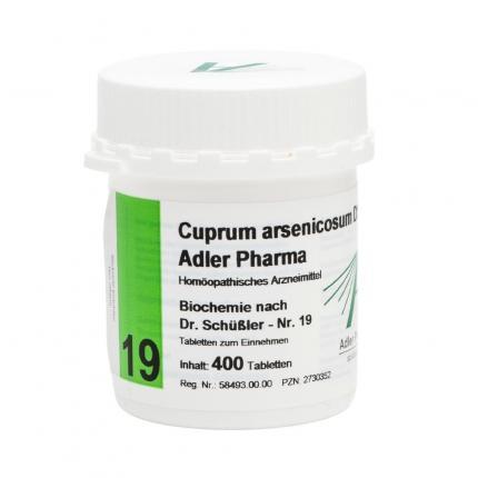 Cuprum arsenicosum D12 Adler Pharma Nr.19, Tablette