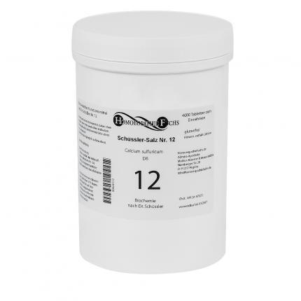 HOMOEOPATHIEFUCHS Schüssler-Salz Nr.12 Calcium sulfuricum D6 Biochemie