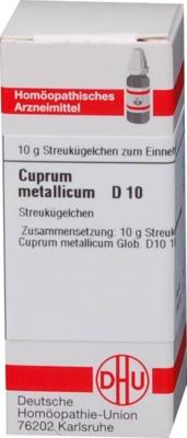 CUPRUM METALLICUM D 10 Globuli