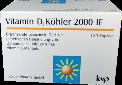 VITAMIN D3 KÖHLER 2.000 IE Kapseln