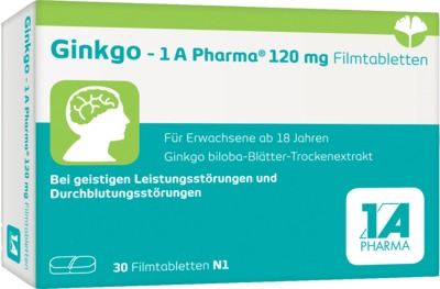 GINKGO 1A Pharma 120 mg Filmtabletten