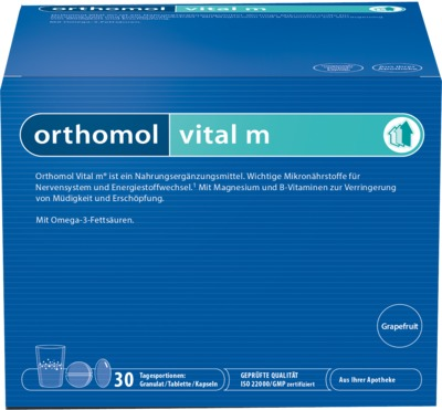 orthomol vital m Grapefruit Franulat/Kapseln
