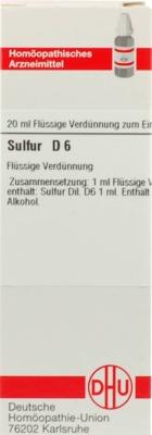 SULFUR D 6 Dilution