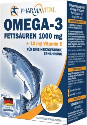 OMEGA-3 FETTSÄUREN 1000mg +12mg Vitamin E Kapseln