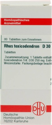 RHUS TOXICODENDRON D 30 Tabletten
