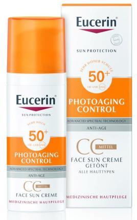 Eucerin FACE SUN CREME getönt LSF 50+ Mittel
