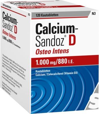 Calcium-Sandoz D Osteo intens 1000mg/880 I.E.