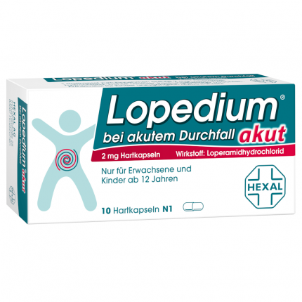 Lopedium Akut Hartkapseln bei akutem Durchfall