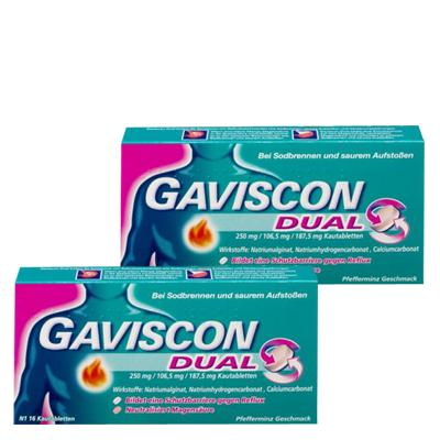 GAVISCON DUAL Kautabletten Doppelpack