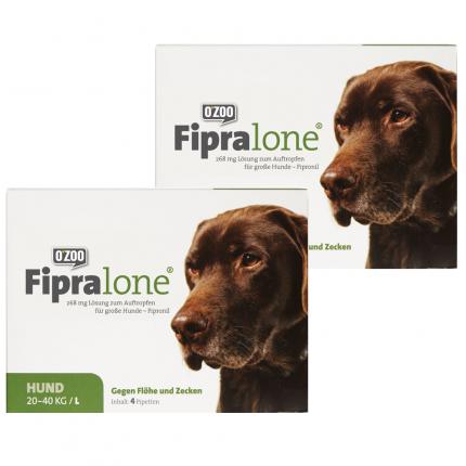 Fipralone Floh- & Zeckenschutz großer Hund Doppelpack
