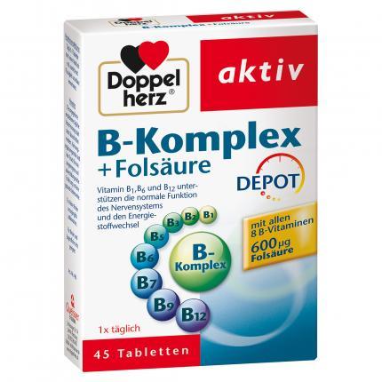 DOPPELHERZ B-Komplex+Folsäure Tabletten