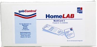 GABCONTROL HomeLAB MultiCard 3 Drogentest