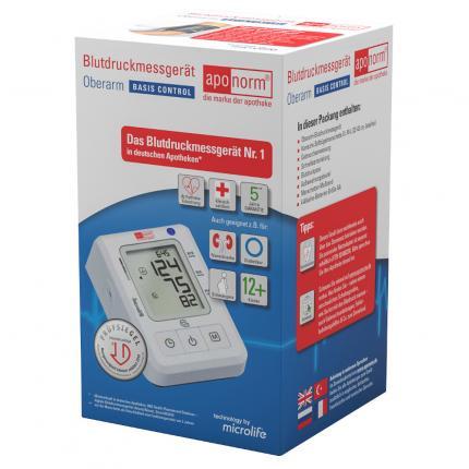 aponorm Oberarm-Blutdruckmessgerät Basis Control Größe M-L