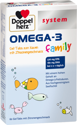DOPPELHERZ Omega-3 family Gel-Tabs system Kautabl.