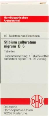 STIBIUM SULFURATUM NIGRUM D 6 Tabletten
