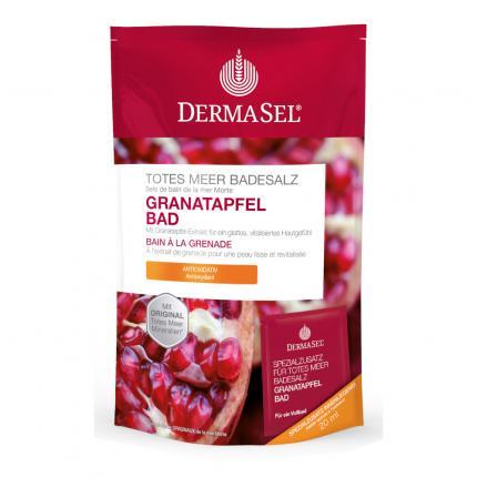 DERMASEL Totes Meer Badesalz+Granatapfel