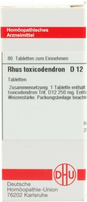 RHUS TOXICODENDRON D 12 Tabletten