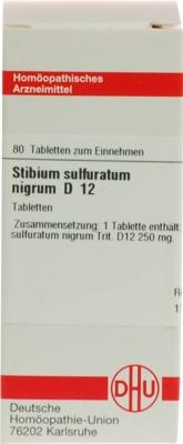 STIBIUM SULFURATUM NIGRUM D 12 Tabletten