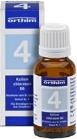 BIOCHEMIE Globuli 4 Kalium chloratum D 6
