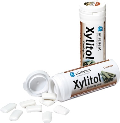 MIRADENT Zahnpflegekaugummi Xylitol Zimt