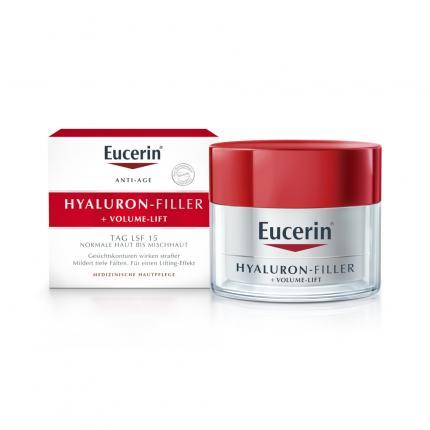 Eucerin Hyaluron-Filler + Volume-Lift Tagespflege für normale Haut bis Mischhaut Creme