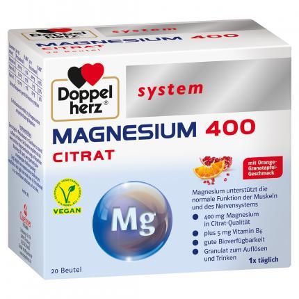 Doppelherz system MAGNESIUM 400 Citrat