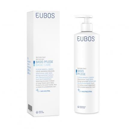 EUBOS FLÜSSIG blau mit Dosierspumpe unparfümiert