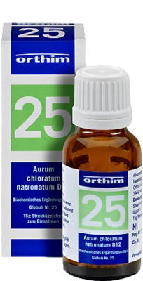 BIOCHEMIE Globuli 25 Aurum chloratum natrona. D 12