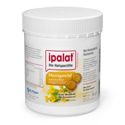 ipalat Die Halspastille Honigmild mentholfrei ohne Zucker