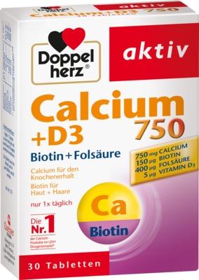 DOPPELHERZ Calcium 750+D3+Biotin Tabletten