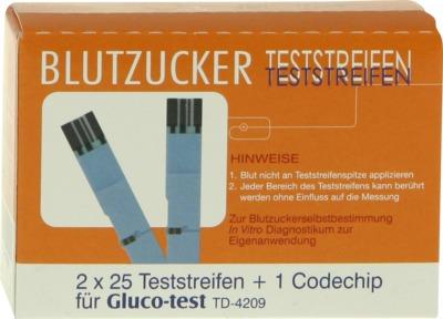 GLUCO TEST Blutzuckerteststreifen