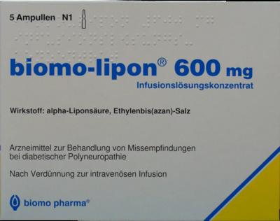 BIOMO LIPON 600 mg Infusionsset Ampullen