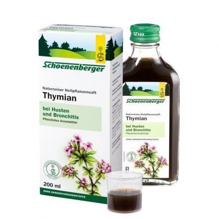 Thymian naturreiner Heilpflanzensaft Schoenenberger