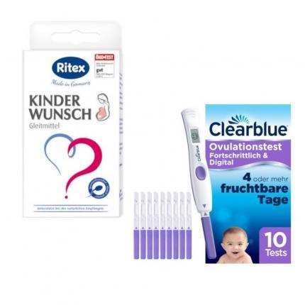 RITEX Kinderwunsch Gleitgel + CLEARBLUE Ovulationstest Set